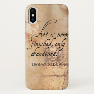 Art is never finished, only abandoned iPhone x case
