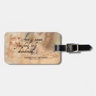 Art is never finished, only abandoned luggage tag