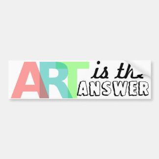 ART is the answer Bumpersticker Bumper Sticker