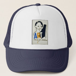 Art kid Vintage Trucker Hat