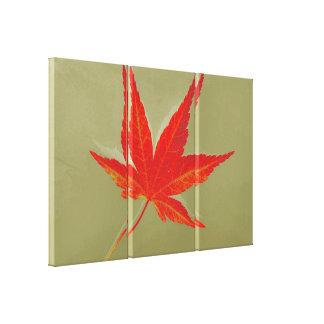 Art Leaf Autumn 8 Gallery Wrap Canvas