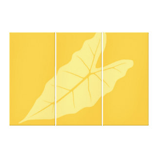 Art Leaf Yellow  Autumn 2 Stretched Canvas Print