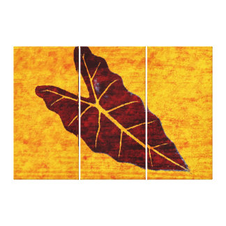 Art Leaf Yellow  Autumn 3 Stretched Canvas Print