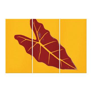Art Leaf Yellow  Autumn Canvas Print
