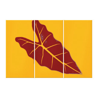 Art Leaf Yellow  Autumn Stretched Canvas Print