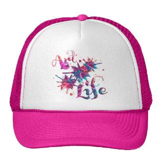 Art Life Paint Splats Mesh Hats