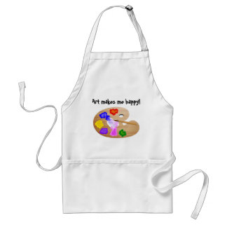 Art Makes Me Happy apron