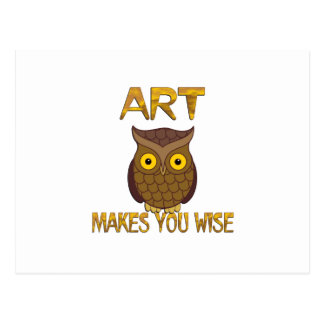 Art Makes You Wise Postcard