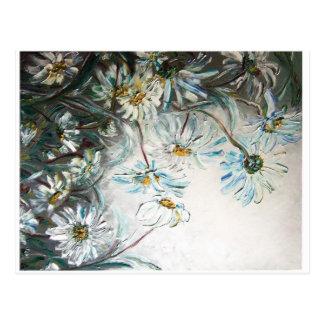 "Art map, ""chamomile"", postcard, greeting map postcard"