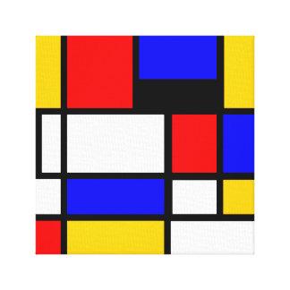 Art Mondrian Style Canvas Print