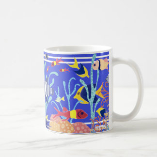Art Mug: Cornish Fish. Blue Sea Aquarium Coffee Mug