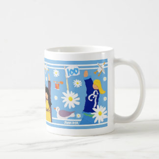 Art Mug: Guides 100 Centenary Mug. Blue. Coffee Mug