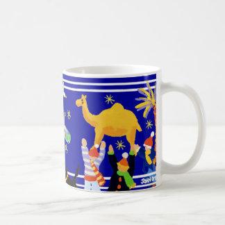 Art Mug: John Dyer Christmas Art Mug. Blue Coffee Mug