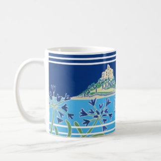 Art Mug: Moonlight on the Water St Michael's Mount Basic White Mug