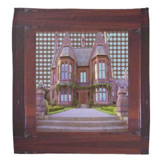 "Art NAVIN BANDANA 19"" Sq  Castle Building Haunted"