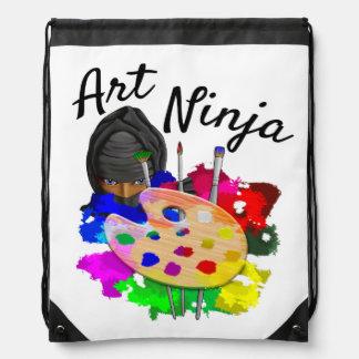 Art Ninja Drawstring Bag