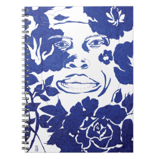 ART NOTE - Blue Flowers Note Book