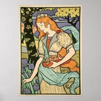 Art Nouveau 1893 by  Eugène Grasset Poster