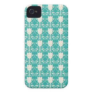 Art Nouveau Abstract Floral - Aqua Case-Mate iPhone 4 Case