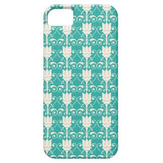 Art Nouveau Abstract Floral - Aqua iPhone 5 Case