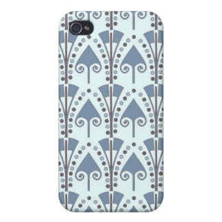 Art Nouveau Abstract Motif iPhone 4 Cover