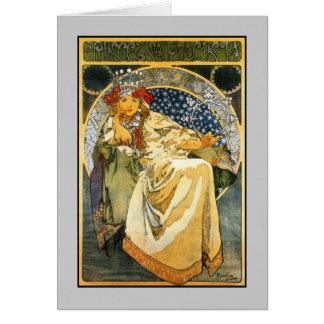 Art Nouveau Alfons Mucha Princess Hyacinth Card