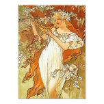 Art Nouveau Alphonse Mucha Spring Invitations