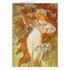 Art Nouveau Alphonse Mucha Spring Note Card