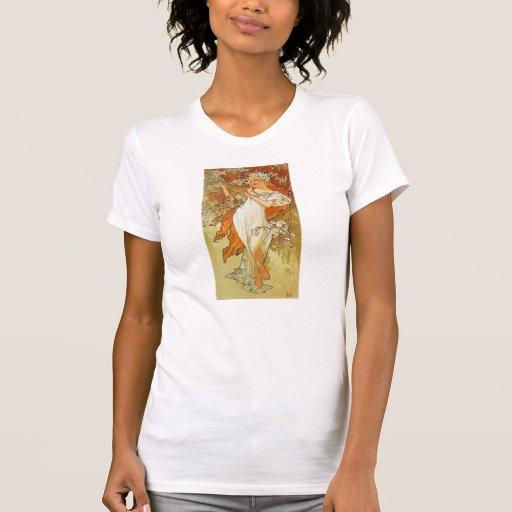 Art Nouveau Alphonse Mucha Spring T-shirt