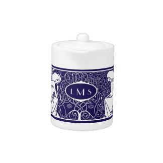 Art Nouveau Angels Monogram Tea Pot