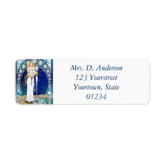 Art Nouveau Aquarius Return Address Label
