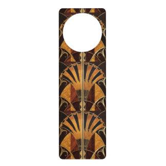 art Nouveau,art deco, vintage, multi wood colours, Door Hanger