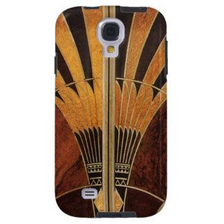 art Nouveau,art deco, vintage, multi wood colours, Galaxy S4 Case