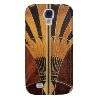 art Nouveau,art deco, vintage, multi wood colours, Galaxy S4 Cover