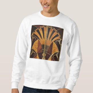 art Nouveau,art deco, vintage, multi wood colours, Sweatshirt