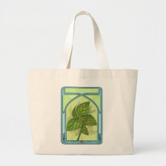 Art nouveau. Basil. Large Tote Bag