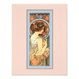"Art Nouveau Beautiful Bride Shower Invitation 4.25"" X 5.5"" Invitation Card"