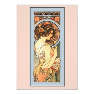 "Art Nouveau Beautiful Bride Wedding Invitation 5"" X 7"" Invitation Card"