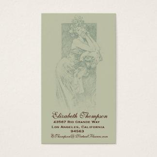 Art Nouveau Beauty Business or Name Card