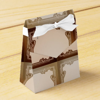 art nouveau, beige,brown,antique,belle époque, ele favour box