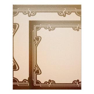art nouveau, beige,brown,antique,belle époque, ele flyer