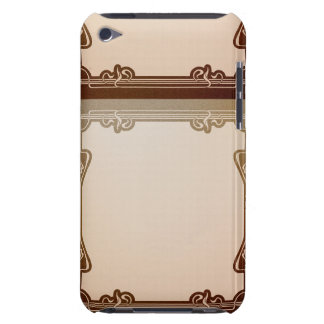 art nouveau, beige,brown,antique,belle époque, ele iPod Case-Mate case