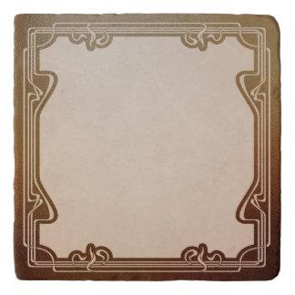 art nouveau, beige,brown,antique,belle époque, ele trivet