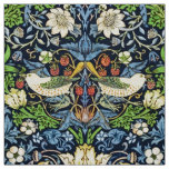 Art Nouveau Bird and Flower Tapestry Pattern Fabric