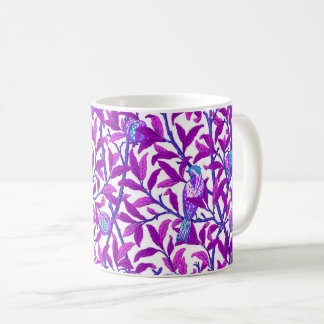 Art Nouveau Bird & Pomegranate, Amethyst Purple Coffee Mug