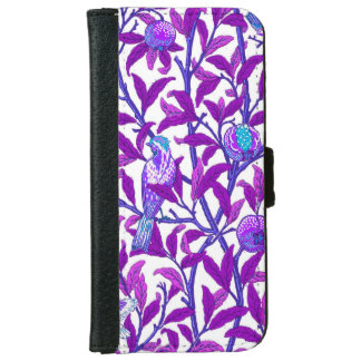 Art Nouveau Bird & Pomegranate, Amethyst  Purple iPhone 6 Wallet Case