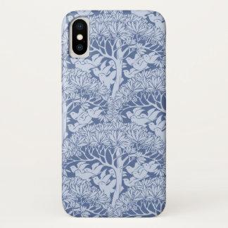 Art Nouveau Birds Trees Pattern iPhone X Case