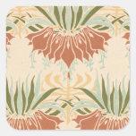 art nouveau bold floral decorative pattern