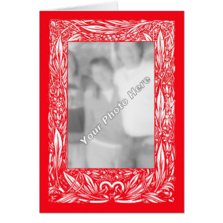 "Art Nouveau Border ""Your Photo Here"" Card"