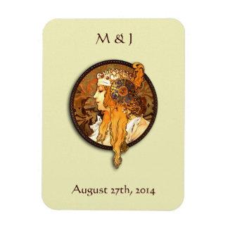 Art Nouveau Bride Save the Date Magnet